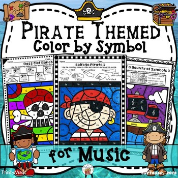 Pirate Themed Color by Symbol (for Music)