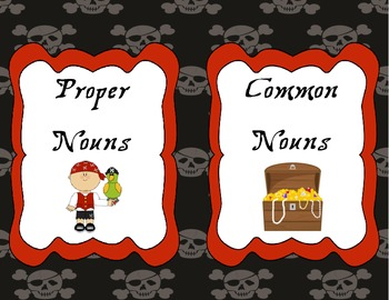 Pirate Themed Common and Proper Nouns Sort