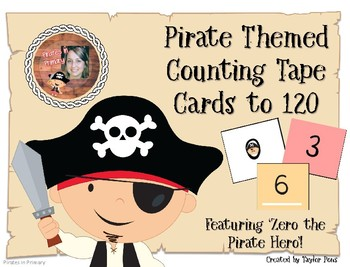 Pirate Themed Counting Tape to 120