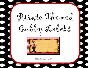 Pirate Themed Cubby Labels