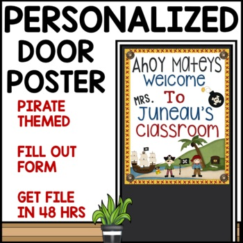 Pirate Themed Customizable Welcome Sign