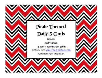 Pirate Themed Daily 5 Cards and Labels