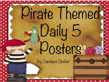 Pirate Themed Daily 5 Posters