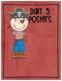 Pirate Themed Daily 5 Signs- Big and Small, Stamina Graphs and I PICK poster