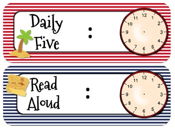 Pirate Themed Daily Schedule-Analog l Digital