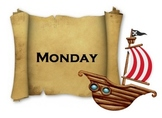Pirate Themed Days of the Week