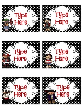 Pirate Themed Editable Classroom Decor Set {Editable Labels, & Banner}
