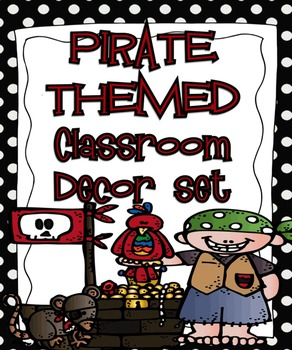 Pirate Themed Editable Classroom Decor Set {Editable Label