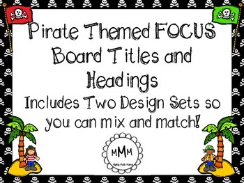 Pirate Themed FOCUS/CBC Board TItles