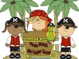 Pirate Themed File Folder Matching Game