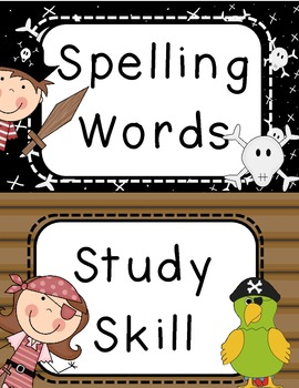 Pirate Themed Focus Wall Cards for Reading Street