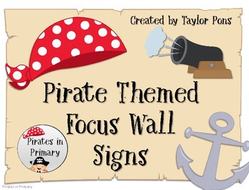 Pirate Themed Focus Wall Signs Pirates in Primary