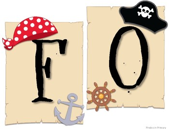 Pirate Themed Focus Wall Signs