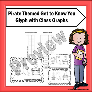 Pirate Themed Get to Know You Glyph with Graphs