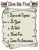 Back to School Pirate Themed Give Me Five Poster