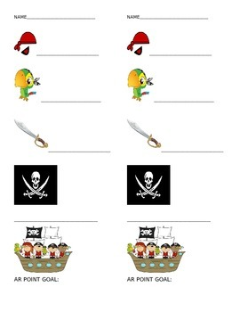 Pirate Themed Goal Tracker (Individual)