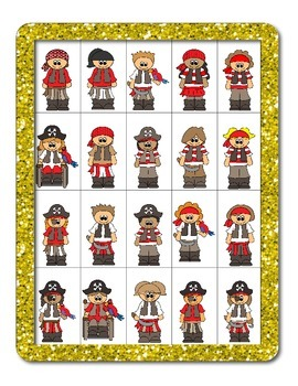 Pirate- Themed Guessing Game (For Asking and Answering Questions)