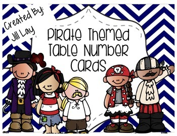 Pirate Themed Hanging Table Number Decor