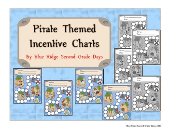 Pirate Themed Incentive Charts
