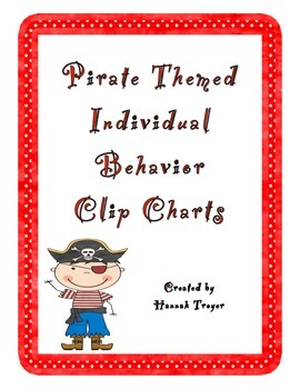 Pirate Themed Individual Behavior Clip Charts
