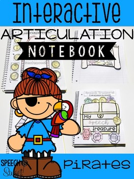 Pirate Themed Interactive Articulation Notebook