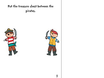 Pirate-Themed Interactive Book: Positional Words and Phrases