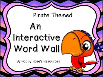 Pirate Themed Interactive Word Wall