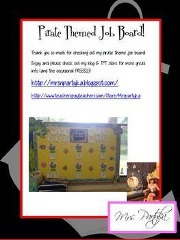 Pirate Themed Job Chart
