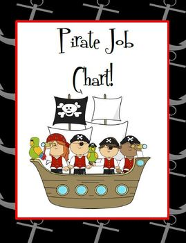 Pirate Themed Job Chart