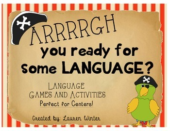 Language and Grammar Activities and Centers