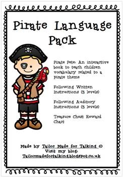 Following Instructions & Vocabulary - Pirate Language Pack