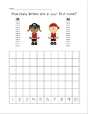 Pirate Themed Letters in My First Name Graph (editable)