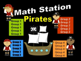 Pirate Themed Math Stations - automated powerpoint for station/center rotations