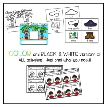 Pirate Themed Math and Literacy Activities