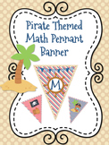 Pirate Themed Math  or Math Corner Pennant Banner