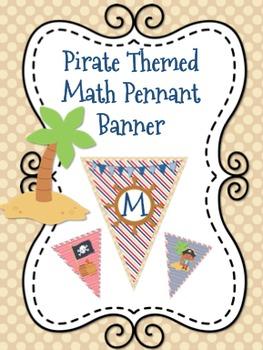 Pirate Themed Math  or Math Corner Pennant Banner