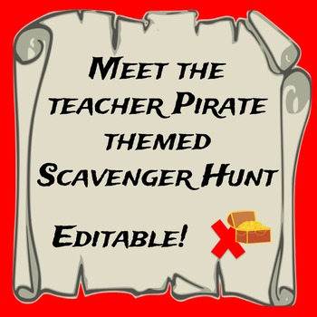 Pirate Themed Meet the Teacher Scavenger Hunt