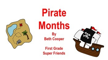 Pirate Themed Months of the Year Cards