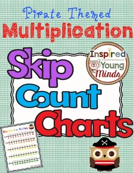 Multiplication Number Line Skip Count Cards: Pirate Themed