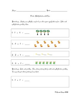 Pirate-Themed Multiplication with One