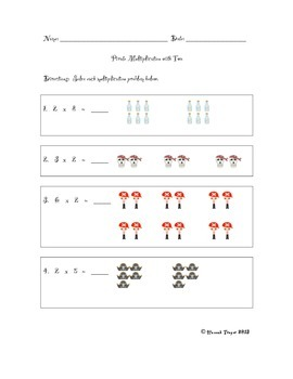 Pirate-Themed Multiplication with Two