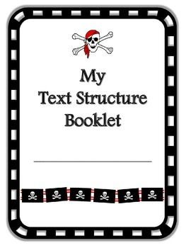 Pirate Themed My Text Structures Booklet
