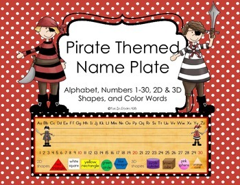 Pirate Themed Name Plate