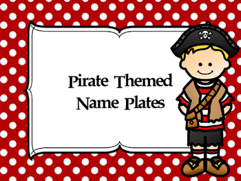 Pirate Themed Name Plates