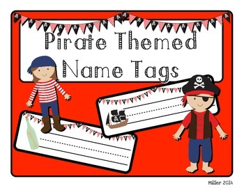 Pirate Themed Name Tags