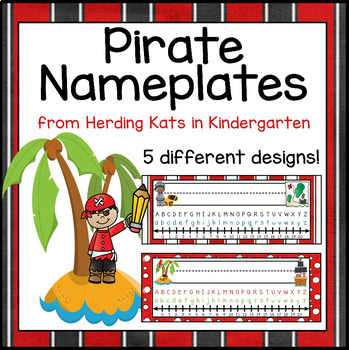 Pirate Themed Nameplates