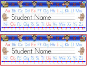 Pirate Themed Nameplates with Learning Tools (primary grades)