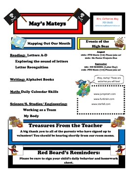 Pirate-Themed Newsletter