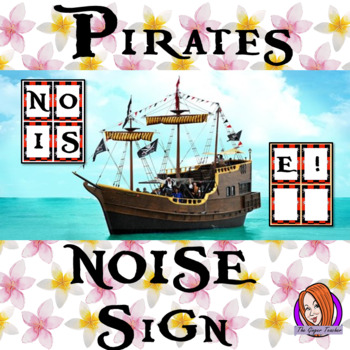 Pirate Themed Noise letters