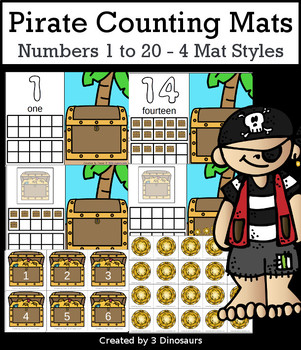 Pirate Themed Number Counting Mats